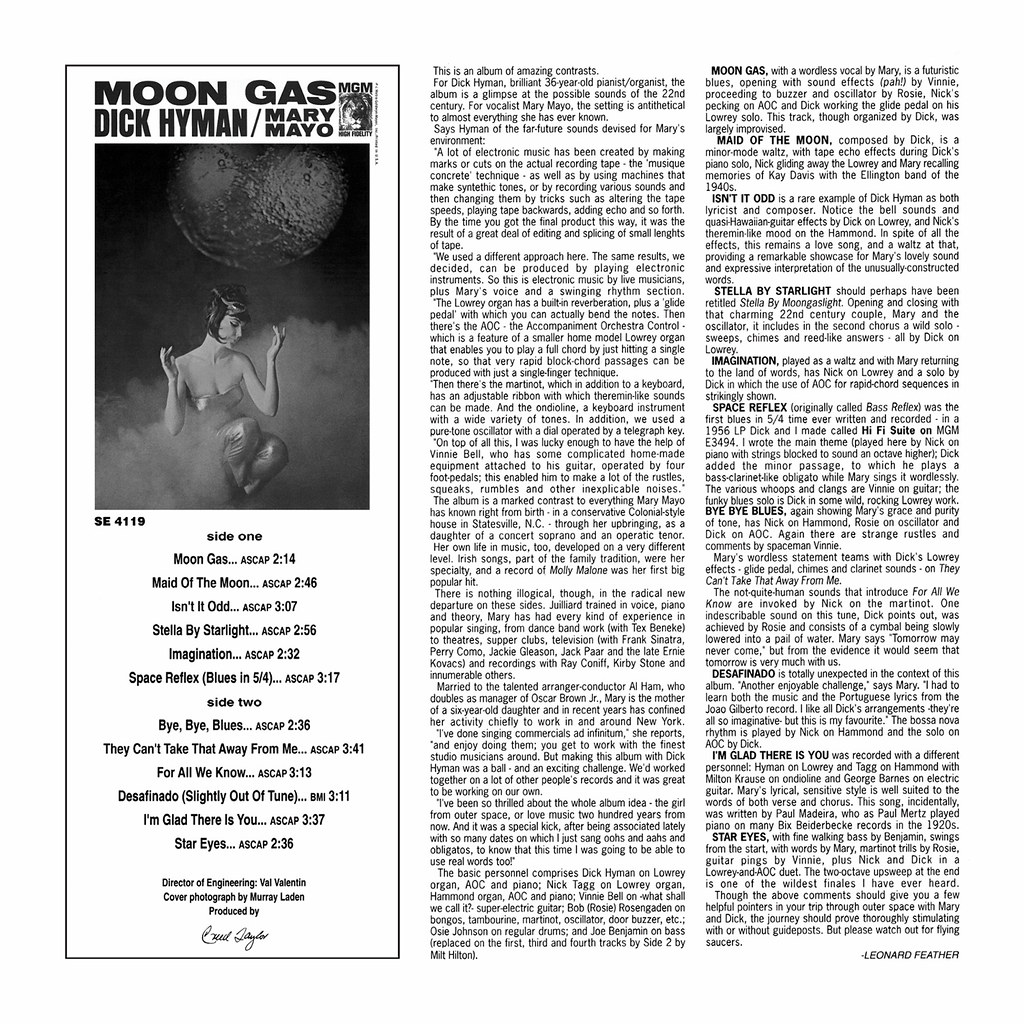 Dick Hyman / Mary Mayo ‎– Moon Gas