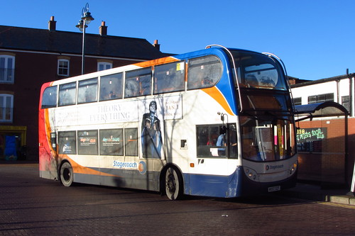 Stagecoach Manchester Enviro400 MX57 DZF, Armentieres Square, Stalybridge