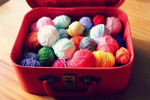 creating at my little red suitcase!