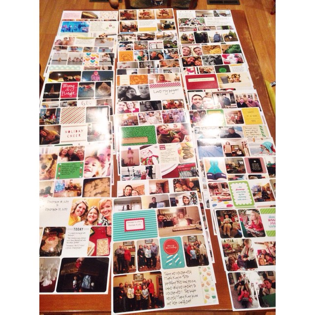 46 12x12 prints from @persnicketyprints to finish off my #projectlife 2014! #projectlifeapp