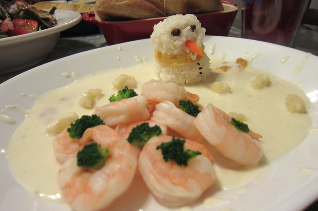 白醬蝦蝦雪人飯 1412