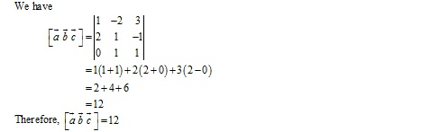 RD Sharma Class 12 Solutions Chapter 26 Scalar Triple Product Ex 26.1 Q2-ii