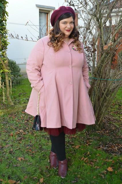 Outfit rosa e borgogna