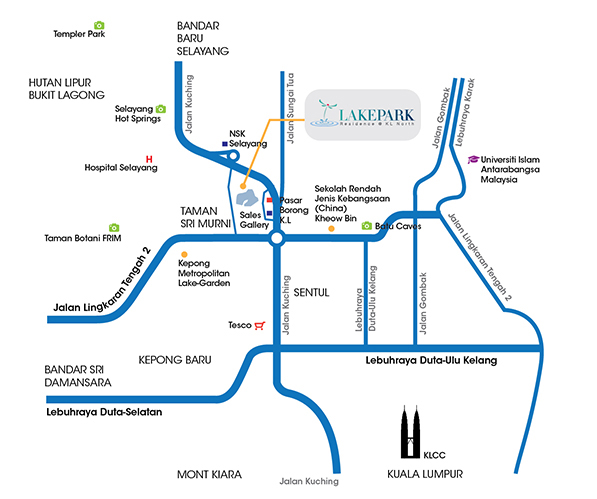 LakePark Residence Map