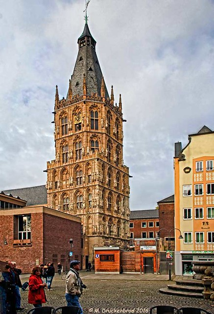 Rathauslaube as viewed from the Alter Market in Cologne Germany