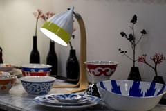 Lampe Cornette à poser- vaisselle à motif Ouzbek Tsé-Tsé Associées