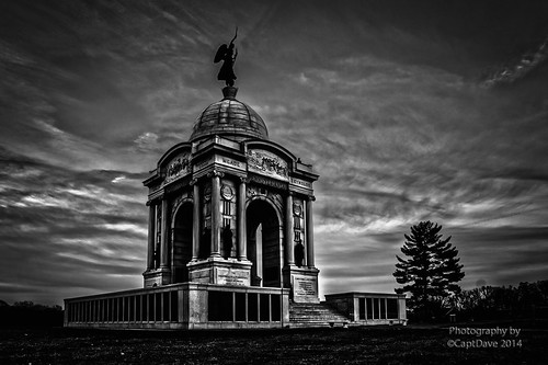 PA Memorial Cemetery Ridge Gettysburg, PA Gradient Sunset HDR