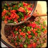 #Homemade #Bolognese Sauce - then the red & green #peppers