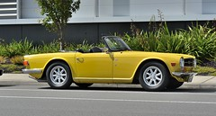 automobile, vehicle, performance car, antique car, classic car, land vehicle, triumph tr6, convertible, sports car,
