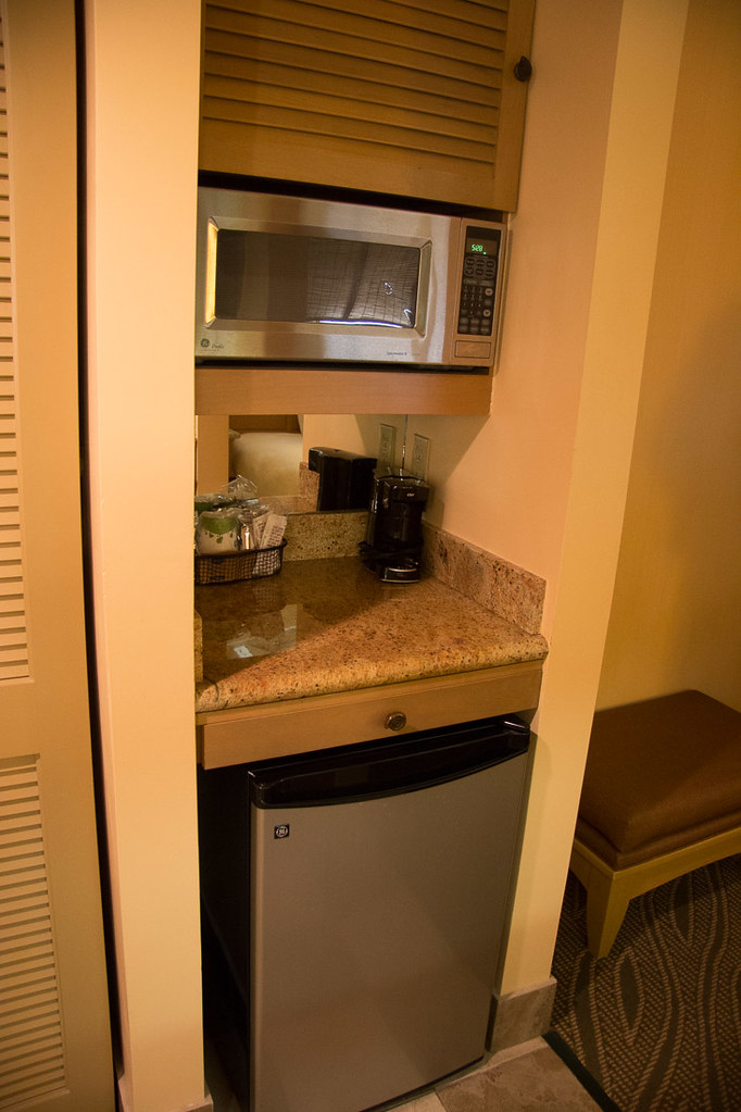 Fridge and microwave at Hampton Inn Key Largo