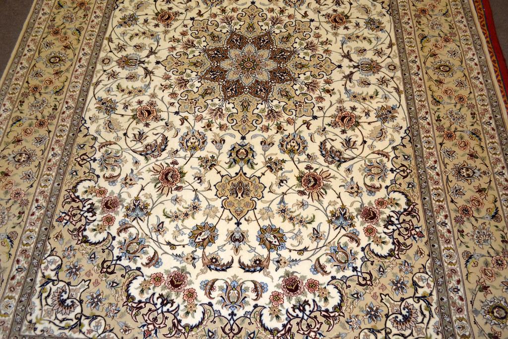 Fine Isfahan Esfahan Persian Area Rug 7x10 (6)