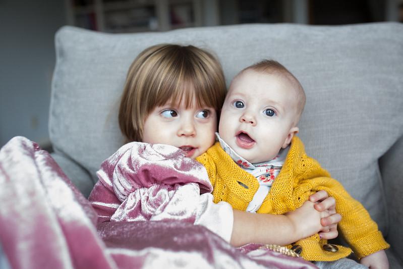 iris and hazel (4 months)