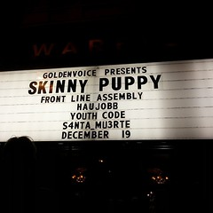 Damn good show. #skinnypuppy #fla #haujobb #warfield