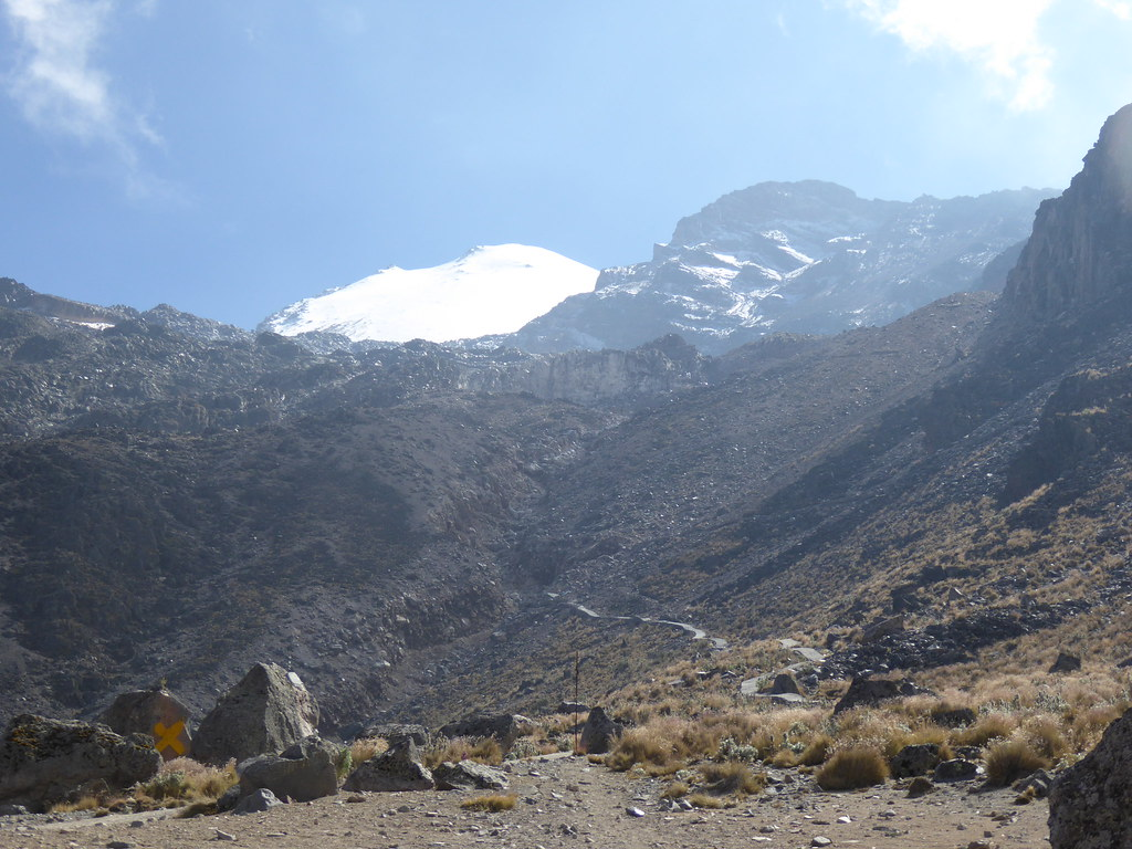 Pico de Orizaba from the Piedra Grande Hut