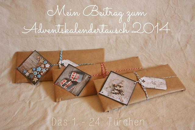 Adventskalendertausch 2014 - 1.-24. Türchen