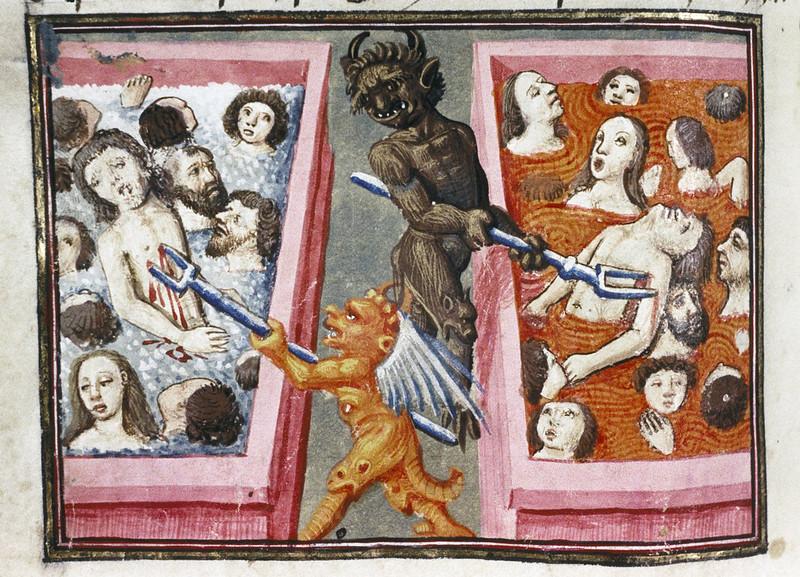 Demons From The Livre de la vigne nostre Seigneur, 1450 - 70 (23)
