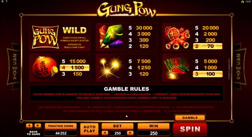 free Gung Pow slot payout