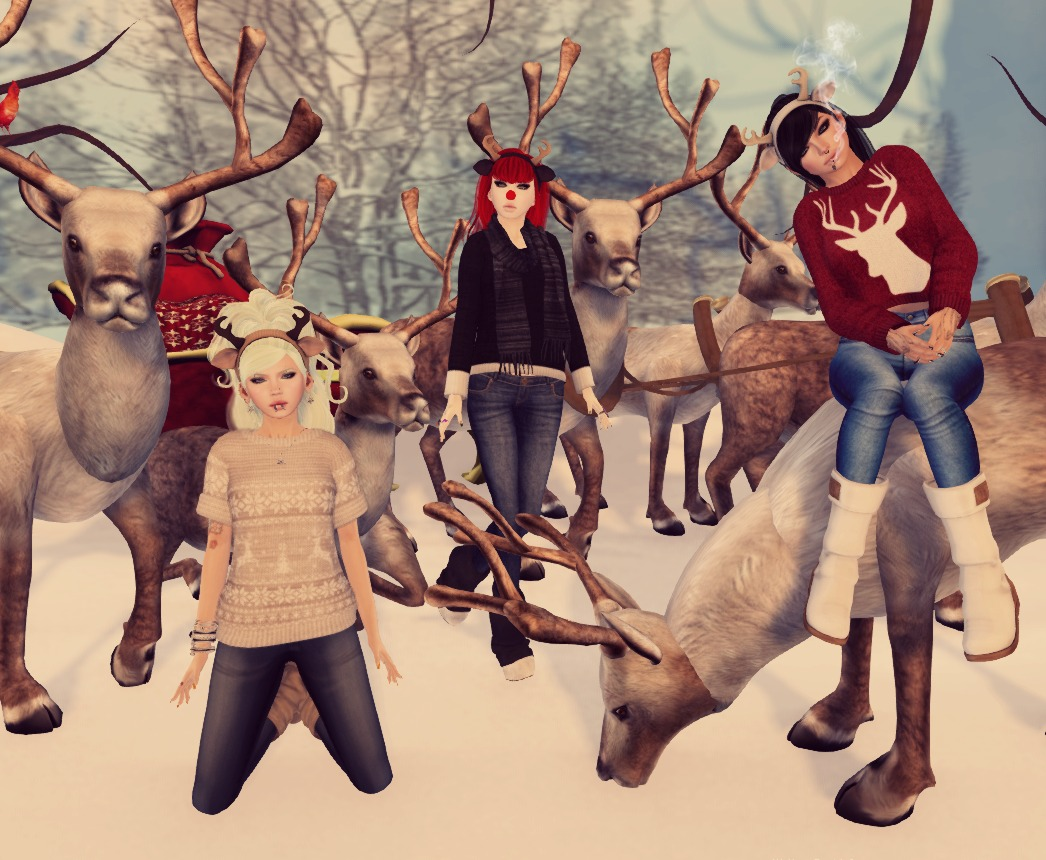 one with the reindeer..