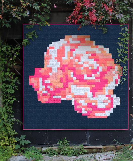 pixel rose blue