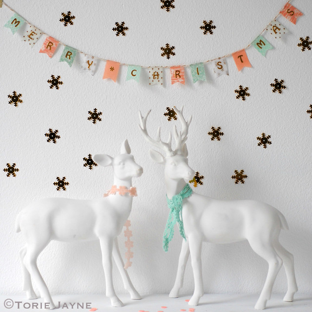 'Merry Christmas' pretty washi tape bunting
