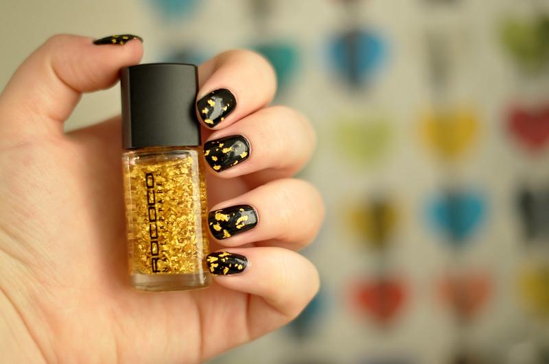 notd rococo gold leaf nail polish rottenotter rotten otter blog