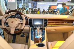 automotive exterior(0.0), automobile(1.0), wheel(1.0), vehicle(1.0), automotive design(1.0), porsche(1.0), porsche panamera(1.0), auto show(1.0), land vehicle(1.0), luxury vehicle(1.0),