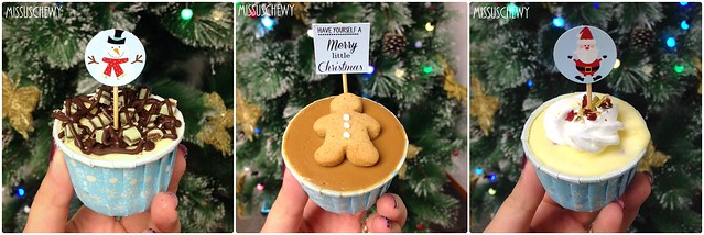 Christmas cheese cups