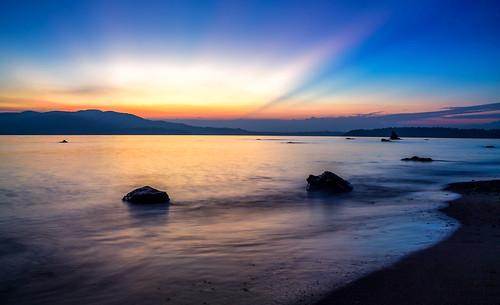 travel sunset sea sun mountain seascape beach yellow landscape island gold golden hour andaman