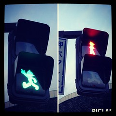 #AstroBoy traffic light in my hometown.