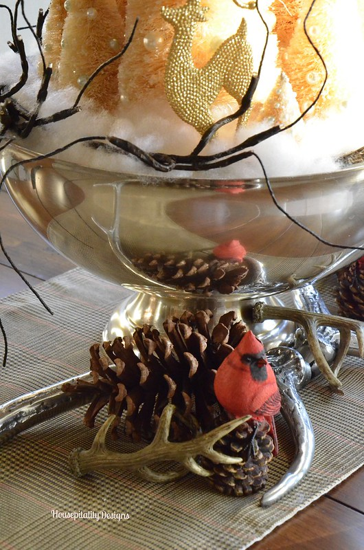 Dining Room Centerpiece/Christmas 2014/Housepitality Designs