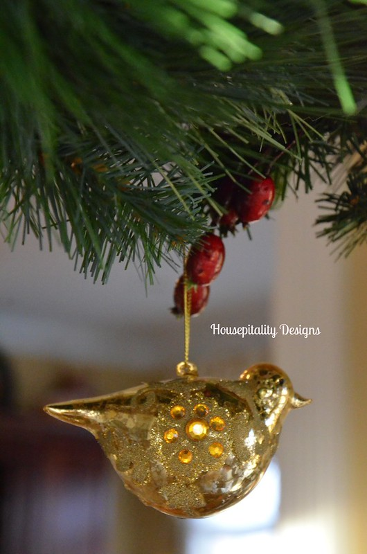 Glass bird ornament/Housepitality Designs