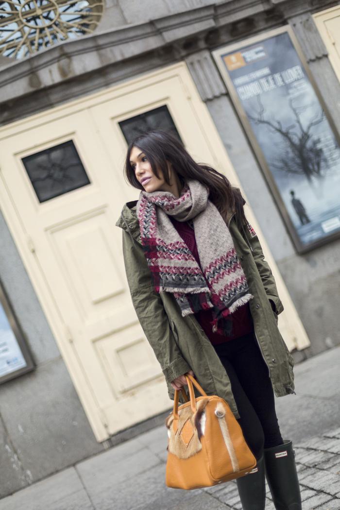 street style barbara crespo gema caamaño mika shop bag pepe jeans coat fashion blogger outfit blog de moda