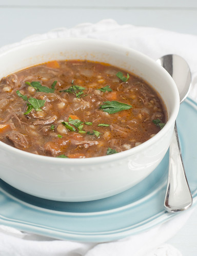 Crockpot Beef and Barley Soup