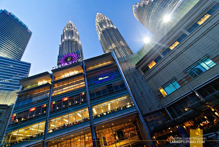 The Rear Facade of the Petronas Towers in Kuala Lumpur, Malaysia