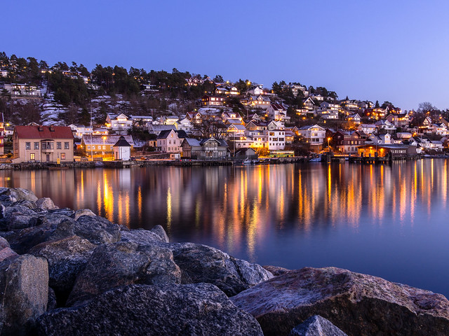 Drøbak by Night