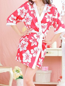 Thumbnail image for Red Sexy Flower Robe