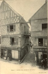 Dreux - Grande Rue, Maisons du XVe Siècle (before 1904)