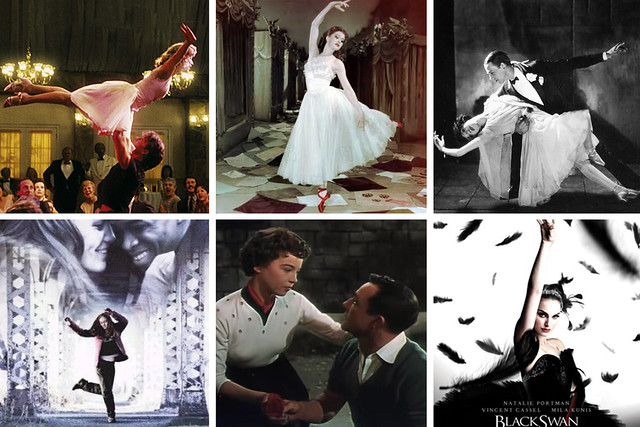 Dirty Dancing, The Red Shoes, Fred Astaire, Save the Last Dance, An American in Paris and The Black Swan © Wikipedia