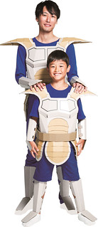 打造最強父子裝!《七龍珠》賽亞人戰鬥服 紙箱自組模型 ダンボール工作キット「ドラゴンボールZ 戦闘服編」