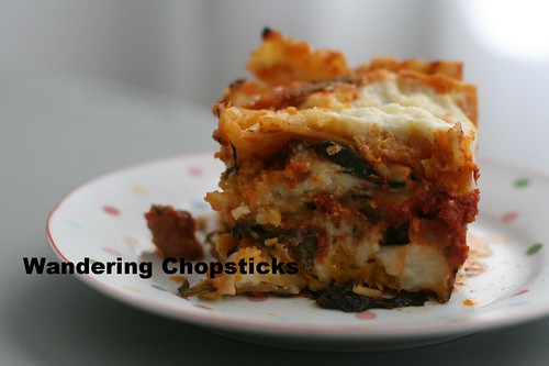 Lasagna with Pumpkin and Spinach 2