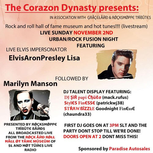 Corazon Revolution flyer