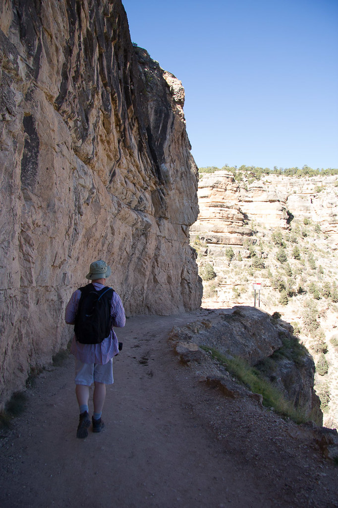 Ken hiking along the Bright Angel Trail