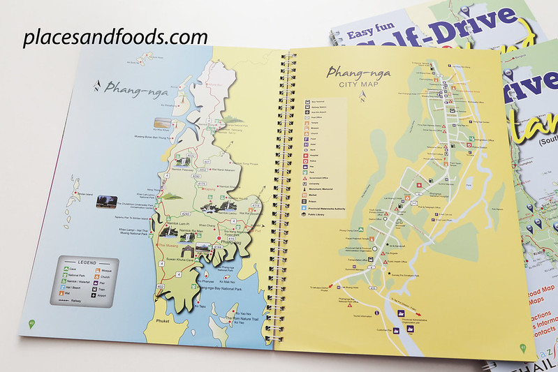 self drive in thailand guide book phangnga map