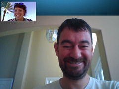 Skype by the pool with @FiachraM