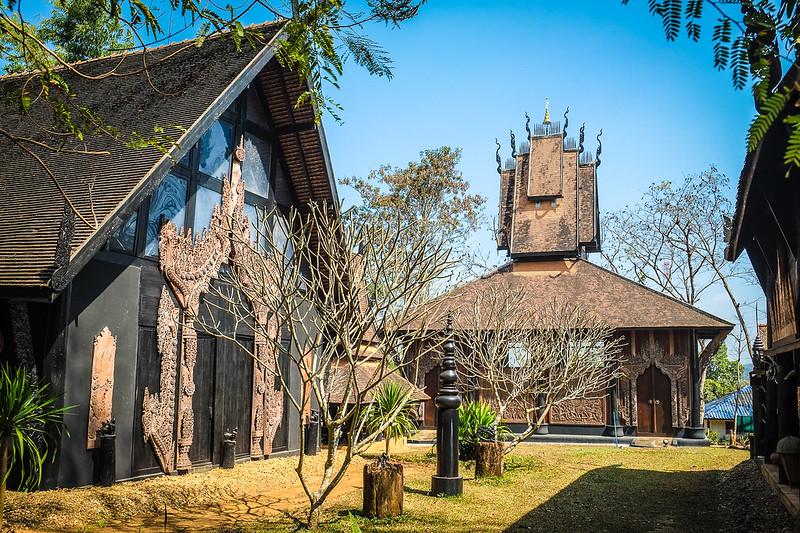 Ornate Buildings at Baan Daum/Black House