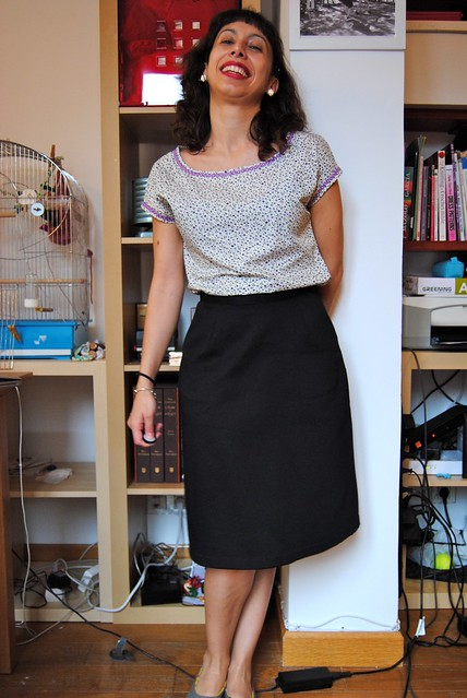 Belcarra Blouse and Cambie Skirt