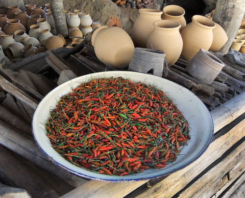 Chiles & Pots in the pottery village on Inle Lake, Myanmar