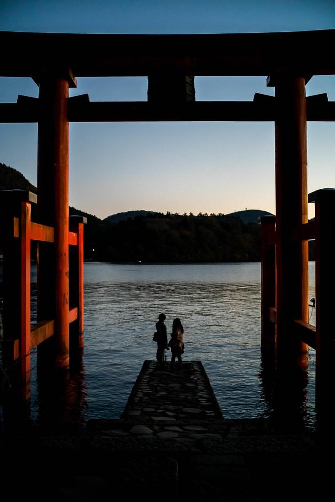 箱根神社-鳥居-