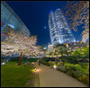 Roppongi Hills Garden With Mori Tower by Mikedie1