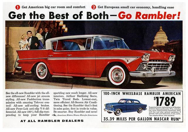1958 Rambler Rebel and American